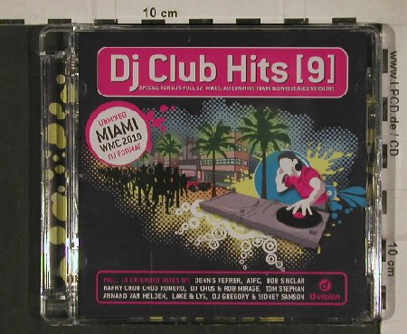 V.A.DJ Club Hits [9]: Unmixed Miamo WMC 2010, d:vision(DV 3365.10cd), EU, 2010 - CD - 80646 - 5,00 Euro