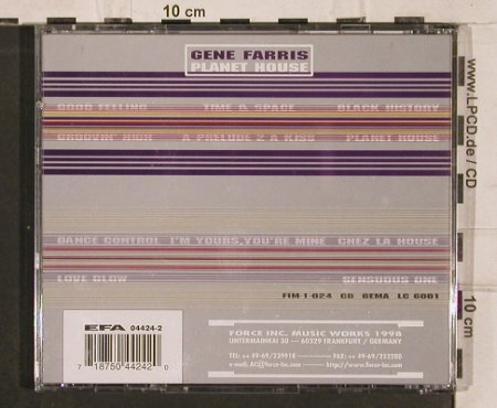 Farris,Gene: Planet House, Force Inc(FIM-1-024), D, 1998 - CD - 82587 - 7,50 Euro