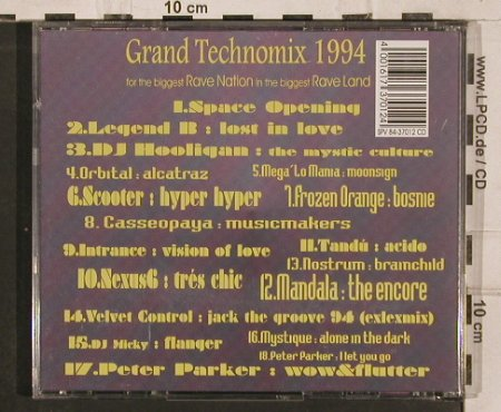 Grand Technomix 1994: Legend B., Dj Hooligan, Orbital.., Tuff E Nuff(), , 1994 - CD - 82589 - 7,50 Euro
