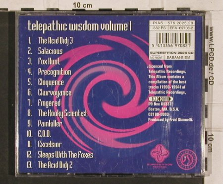 Gianelli,Fred: Telepathic Wisdom Vol.1, Supersti(2025), , 1994 - CD - 82595 - 7,50 Euro