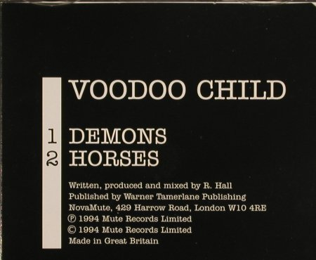 Voodoo Child - R.Hall: Demons/Horses, NovaMute(32), UK, 1994 - CD5inch - 82623 - 4,00 Euro