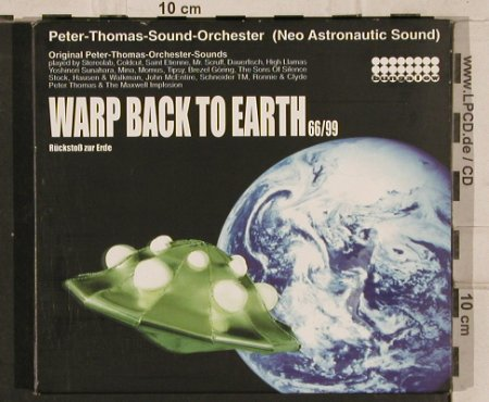 V.A.Warp Back To Earth 66/99: Peter Thomas Sound-Orch,Digi, Bungalow(), rmx/orign., 1998 - 2CD - 82658 - 11,50 Euro