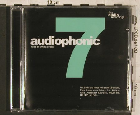 V.A.Audiophonic 7: 16 Tr.,mixed by Christian Weber, Audio cd25(), D,FS-New, 2002 - CD - 83438 - 10,00 Euro
