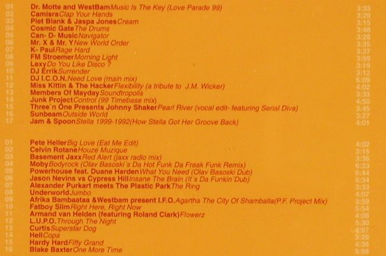 V.A.Love Parade-The'99 Compilation: Dr.Motte...Blake Baxter, 33 Tr., Low Spirit(), EU, 1999 - 2CD - 83471 - 7,50 Euro