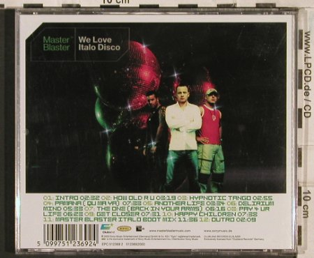 V.A.Master Blaster: We Love Italo Disco, Sony(), EU, 2003 - CD - 83472 - 7,50 Euro