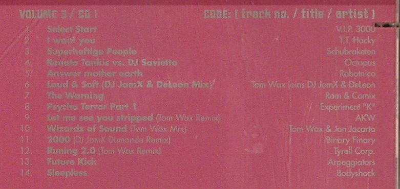 V.A.Tom Wax Mix Trax: Vol.3 - V.I.P.3000...Pascal FEOS, ZYX(), D, co, 2000 - 2CD - 83510 - 7,50 Euro
