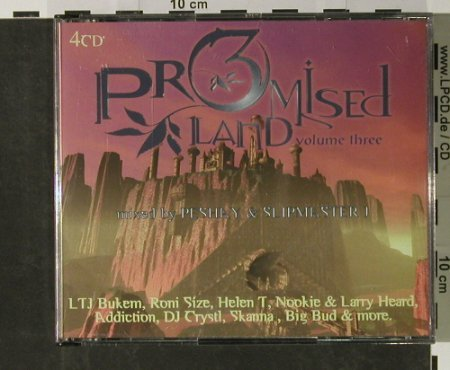 V.A.Promised Land Vol.3: mxd by Peshay & Slipmaster J,56 Tr., HigherLimits(HLPLCD4), UK,  - 4CD - 90193 - 12,50 Euro