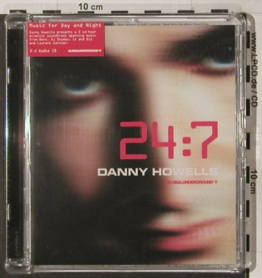 Howells,Danny: 24:7 ,2 x Audio CD, FS-New,, Global Underground(GU247001CD), UK, 03 - 2CD - 90273 - 11,50 Euro