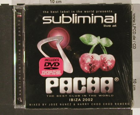 V.A.Subliminal Live at Pacha: Best Club in the World,+DVD, FS-New, Divucsa(34-313), E -Ibiza, 02 - 2CD - 90943 - 11,50 Euro