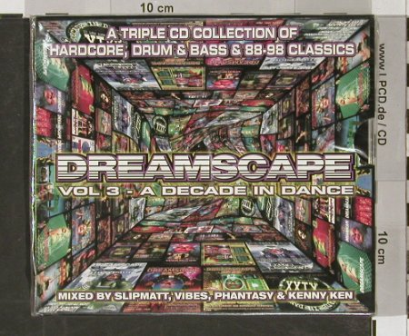 V.A.Dreamscape: Vol.3, A Decade In Dance, FS-New, Dreamscape(), , 1998 - 3CD - 90976 - 12,50 Euro