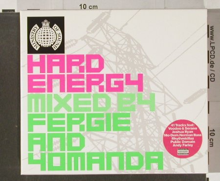 V.A.Hard Energy: Mixed by Fergie and Yomanda, boxed, MinistryOS(MosCD14), EU, 2001 - 2CD - 91523 - 11,50 Euro