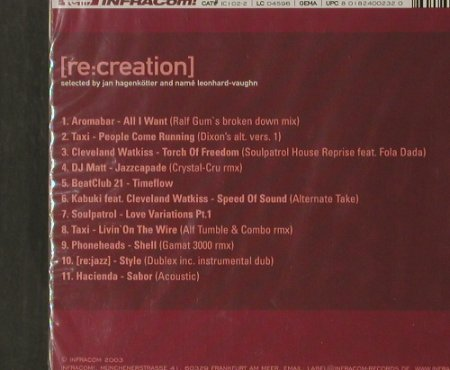 V.A.Re: Creation Compiled: Tour 2003, FS-New, INFRACom!(ic102-2), D, 2003 - CD - 91774 - 10,00 Euro