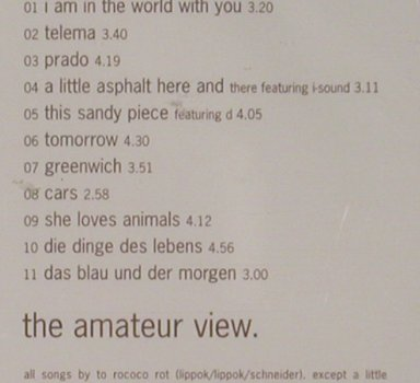 To rococo rot: The Amateur Views, FS-New, CitySl.EFA(), D, 99 - CD - 91786 - 10,00 Euro