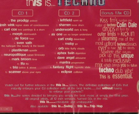 V.A.This Is... Techno: Box Set, FS-New, Beechwood(), UK, 1996 - 3CD - 91876 - 10,00 Euro