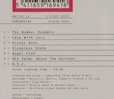 Subsurfing: Frozen Ants, RTD/AO(), A, 1995 - CD - 91885 - 11,50 Euro