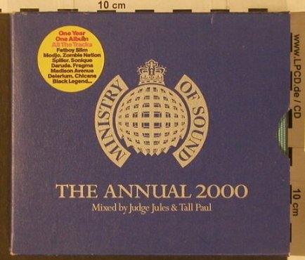 V.A.The Annual 2000: Mixed by Judges Jules&TallPaul, MinistryOS(), UK, 2000 - 2CD - 91983 - 11,50 Euro