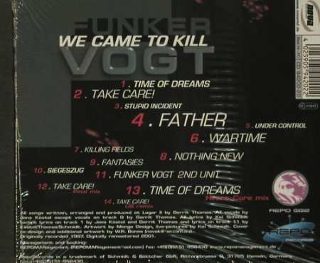 Funkervogt: We Came To Kill '97,Digi,FS-New, REPO(002), 14Tr., 2001 - CD - 92376 - 10,00 Euro