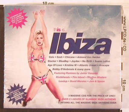 V.A.This Is...Ibiza: Gala, Sash..Jam & Spoon,Box, FS-New, Beechwood(BEBOXCD14), UK, 1997 - 3CD - 93015 - 10,00 Euro