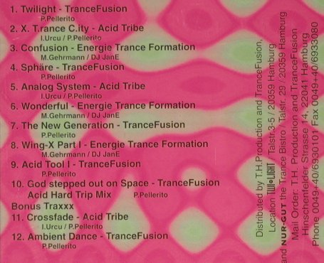 V.A.TWI LIGHT: Part 1, Trance Fusion(), D, 1994 - CD - 93050 - 7,50 Euro