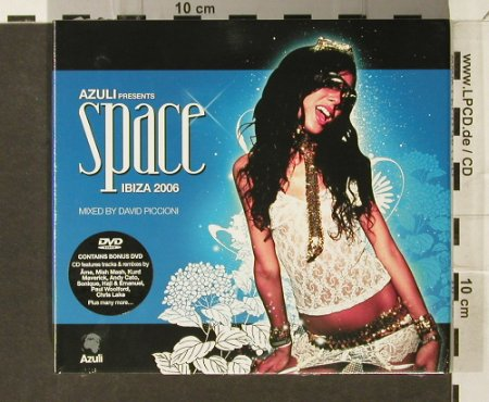 V.A.Space Ibiza 2006: Mixed by David Piccioni, Digi +DVD, Azuli(), EU, FS-New, 2006 - 2CD - 94079 - 11,50 Euro