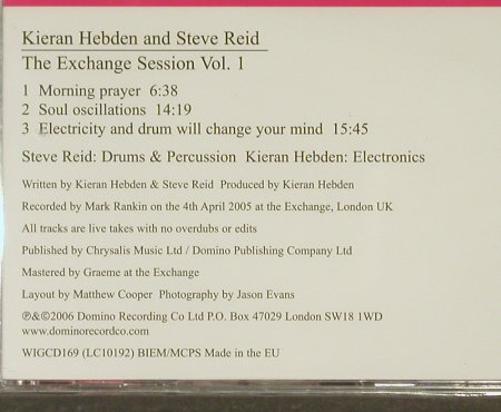 Hebden,Kirian / Steve Reid: The Exchange Session Vol.1, FS-New, Domino(), EU, 2006 - CD - 94237 - 11,50 Euro