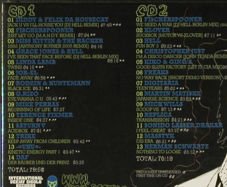 V.A.International Deejay Gigolos: Vol.9, Digi, DJ Hell, FS-New, International DJ Gigolo(), EU, 2006 - 2CD - 94254 - 12,50 Euro