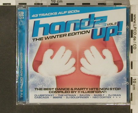 V.A.Hands Up! Vol.2: The Winter Edition, 43 Tr., Klubbstyle(535.5102.2), EU, 2007 - 2CD - 95452 - 10,00 Euro