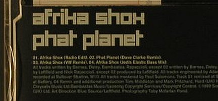 Leftfield: Afrika Shox*3+1, Columbia(), A, 99 - CD5inch - 96781 - 3,00 Euro