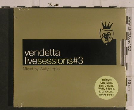 V.A.Vendetta: Live Session#3,Wally Lopez, FS-New, Blanco y N(VENcd 417(CB)), , 2002 - 2CD - 99582 - 14,00 Euro