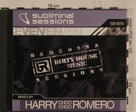 V.A.Subliminal Sessions: Seven - by Harry Choo Choo Romero, Subliminal Rec.(SUBUScd16), , 2004 - 2CD - 99811 - 7,50 Euro