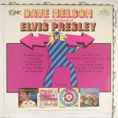 Nelson,Dave - The Cheekers: sings the Best of Elvis Presley, Sonic(9058), D,  - LP - A9062 - 7,50 Euro