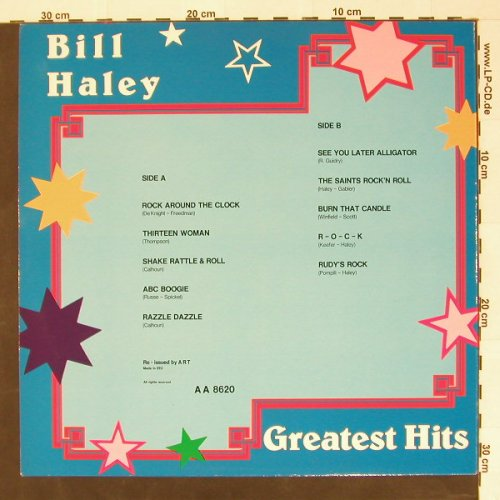 Haley,Bill: Greatest Hits, ART(AA8620), EEC,  - LP - B8352 - 4,00 Euro