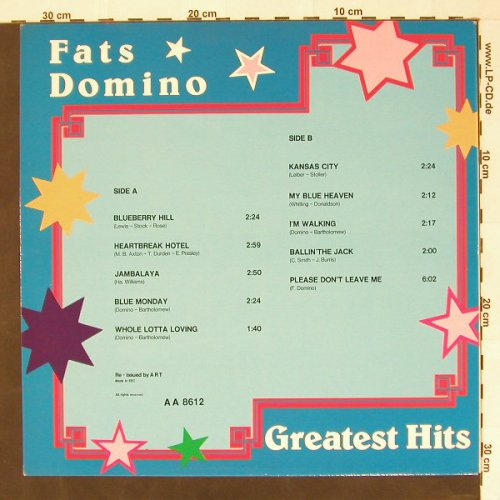 Domino,Fats: Greatest Hits, ART(AA 8612), EEC,  - LP - B8396 - 4,00 Euro