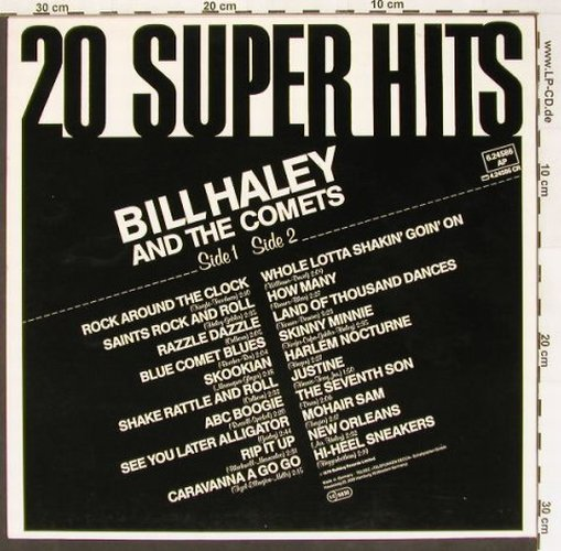 Haley,Bill & Comets: 20 Super Hits, Strand(6.24586 AP), D, 79 - LP - B8847 - 5,50 Euro