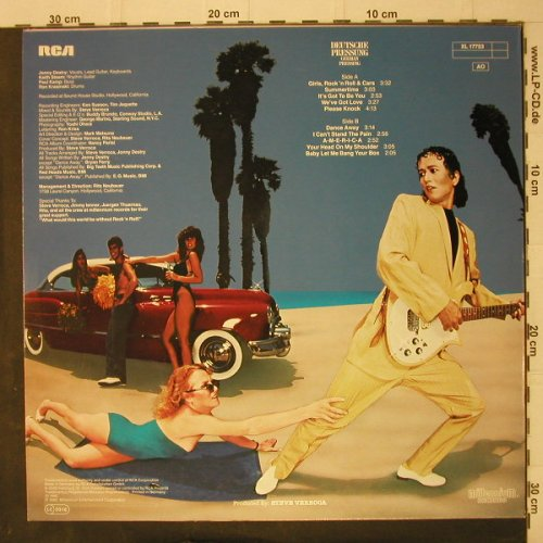 Destry,Jonny & Destiny: Girls, R'n'R & Cars, RCA(XL 17753), D, 1980 - LP - C7956 - 7,50 Euro