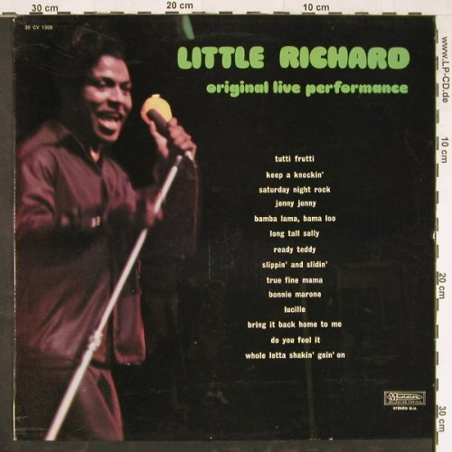 Little Richard: Original Live Performance, Musidisc(30 CV 1308), F,  - LP - E1999 - 5,00 Euro