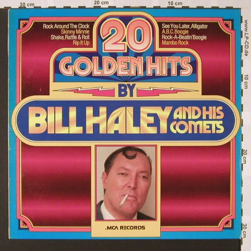 Haley,Bill & Comets: 20 Golden Hits By, MCA(6.22555 AP), D, 1976 - LP - E6989 - 4,00 Euro