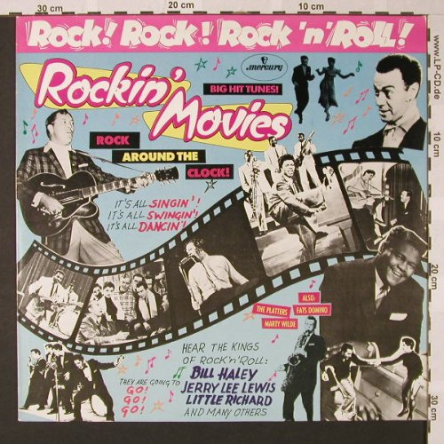 V.A.Rock!Rock!Rock'n'Roll: Rockin'Movies, 12 Tr., Mercury(6498 047), D,  - LP - E7750 - 5,00 Euro