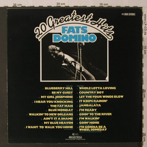 Domino,Fats: 20 Greatest Hits, m-/vg+, UA(064-97905), D,  - LP - F5240 - 3,00 Euro