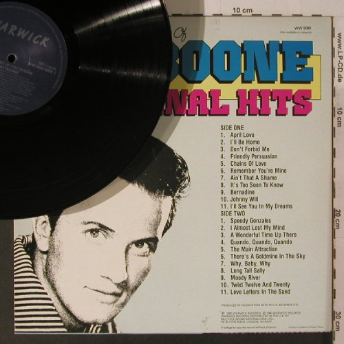 Boone,Pat: The Best Of-22 Original Hits, Warwick(WW 5089), UK, 1980 - LP - F5242 - 5,50 Euro