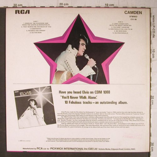 Presley,Elvis: Sings Hits From His Movie, RCA Camden(CDS 1110), US/UK, 1972 - LP - F7825 - 7,50 Euro