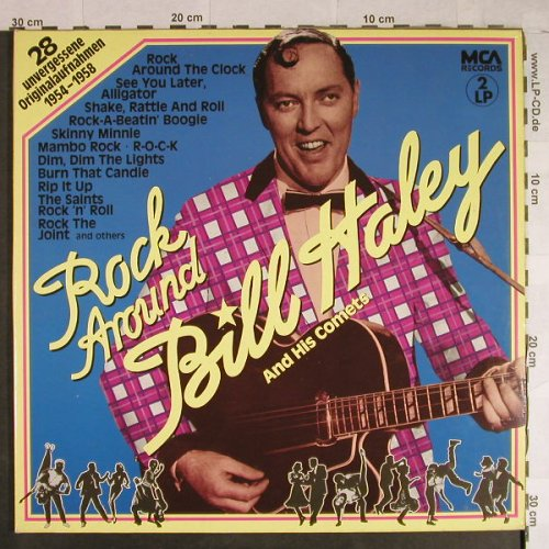 Haley,Bill & Comets: Rock Around Bill Haley,1954-58,Foc, MCA(301 666-370), D, Ri,  - 2LP - H1023 - 7,50 Euro