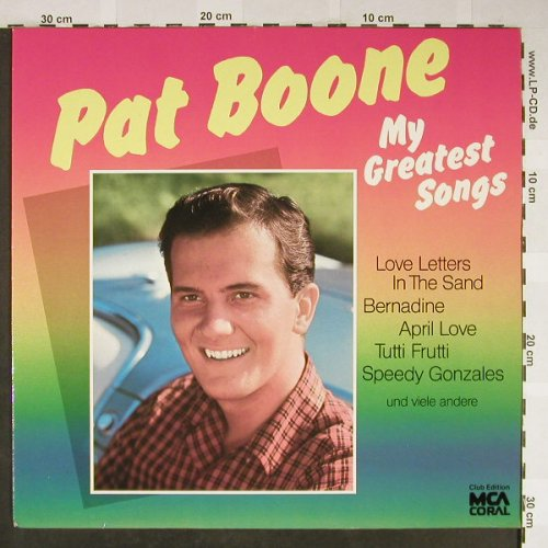 Boone,Pat: My Greatest Songs, Club Ed., MCA(31 540 8), D,  - LP - H2013 - 6,00 Euro