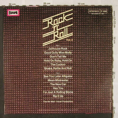 Air Mail: Rock'n'Roll Vol.2-vocal Production, Europa(E 1068), D, 1975 - LP - H3599 - 4,00 Euro