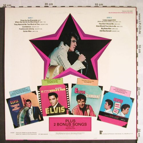 Presley,Elvis: Sings Hits From His Movies Vol.1, Pickwick(CAS-2567), US, 1972 - LP - H435 - 6,00 Euro