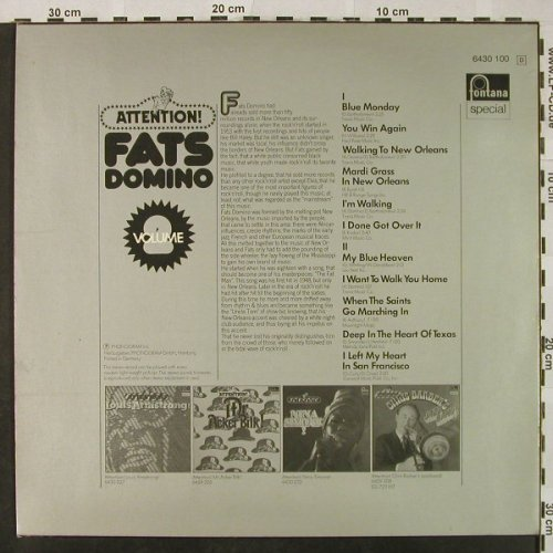 Domino,Fats: Attention! Vol.2, Fontana(6430 100), D,  - LP - H4816 - 5,00 Euro