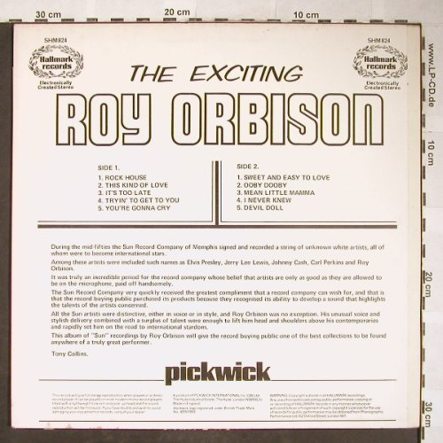 Orbison,Roy: The Exciting, Hallmark(SHM 824), UK, Ri,  - LP - H5724 - 5,00 Euro