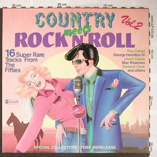 V.A.Country meets Rock'n'Roll: Vol.2, Jimmy Newman..Al Terry, ABC(ABC 25 552 ET), D, Mono, 1978 - LP - H6129 - 6,00 Euro