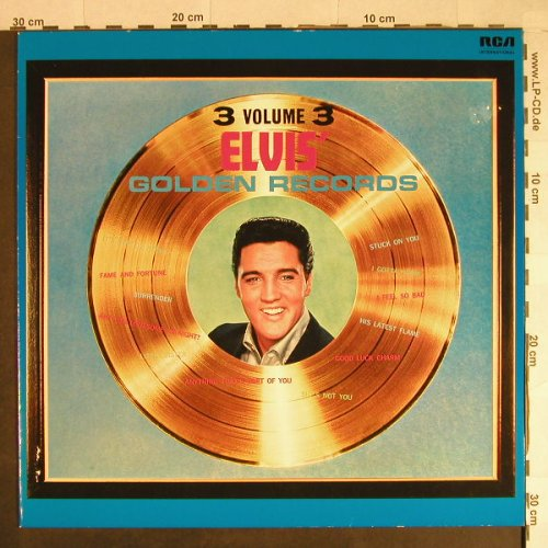 Presley,Elvis: Elvis' Golden Records-Volume 3, RCA(NL 82765), D, Ri, 1963 - LP - H674 - 7,50 Euro