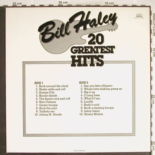 Haley,Bill & Comets: 20 Greatest Hits, BlackTulip(BT 555010), UK,  - LP - H7094 - 5,50 Euro
